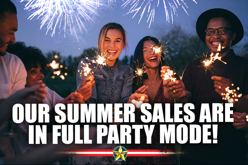 Our Summer Sales are in Full Party Mode!